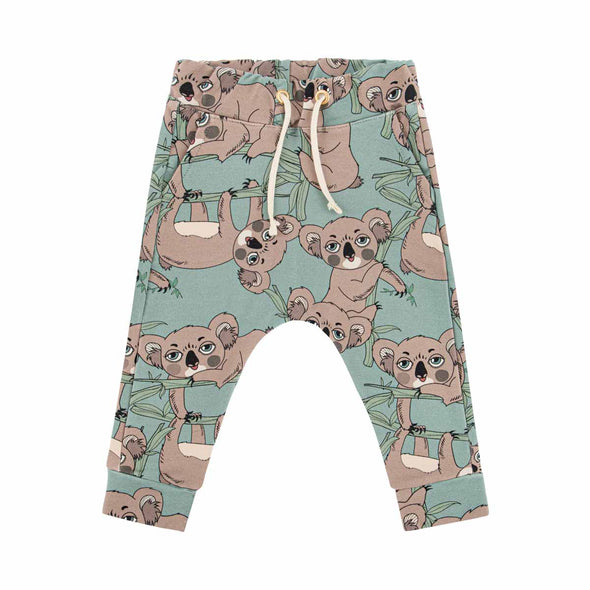 Dear Sophie Koala Sea Green Track Pants