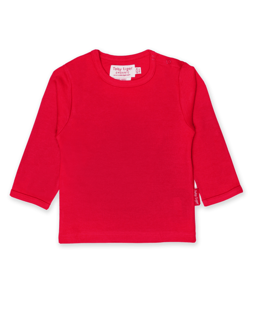 Toby Tiger Red Long Sleeved Top