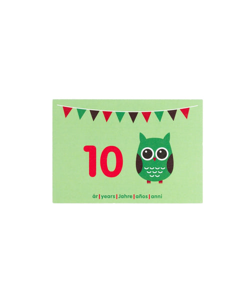 Maxomorra Owl Birthday Card Age 10