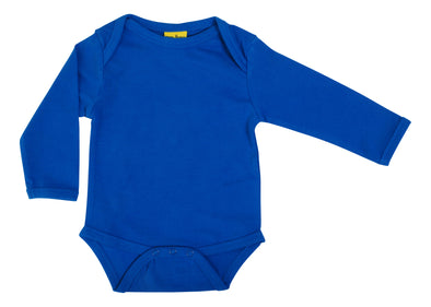 DUNS More Than A Fling Blue Long Sleeved Bodysuit