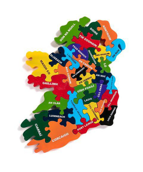 Alphabet Jigsaws Map Of Éire (Ireland)- Irish
