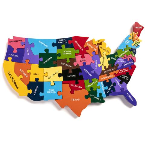 Alphabet Jigsaws Map Of The USA