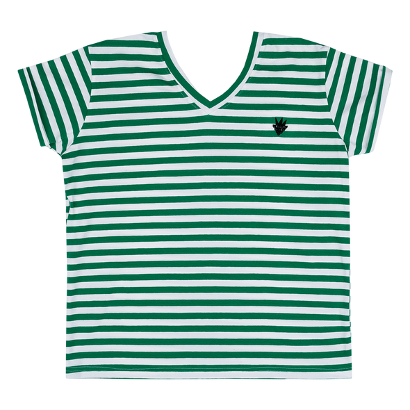 Raspberry Republic Green Stripes T-shirt- Adult