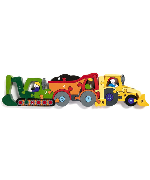 Alphabet Jigsaws Construction Number Jigsaw