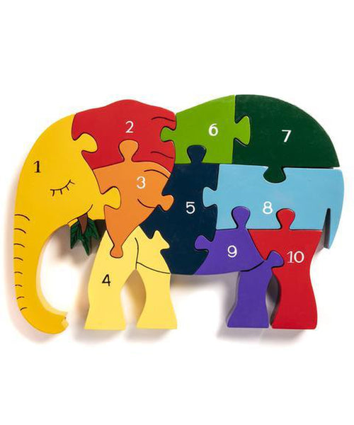 Alphabet Jigsaws Elephant Number Jigsaw