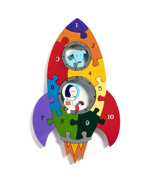 Alphabet Jigsaws Rocket Number Jigsaw
