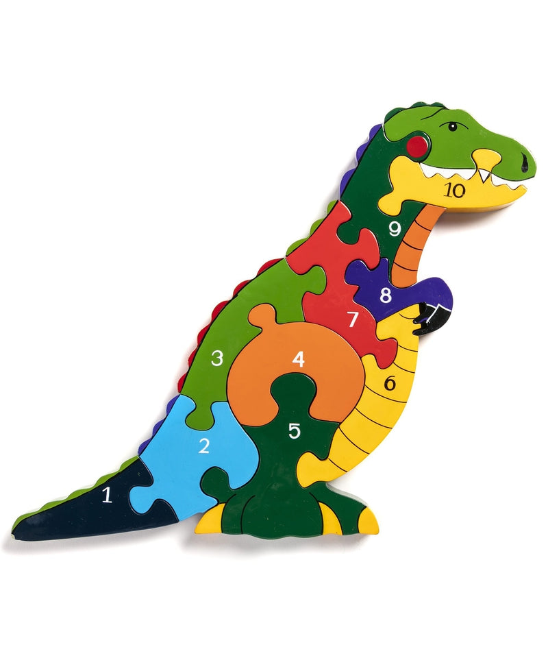 Alphabet Jigsaws T-Rex Number Jigsaw