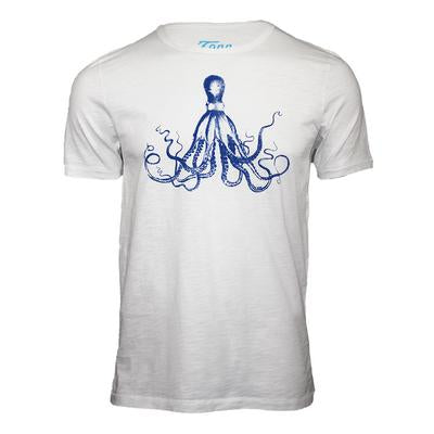 Tonn Men's Octopus T-Shirt White
