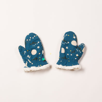 Little Green Radicals Moon And Stars Sherpa Mitts