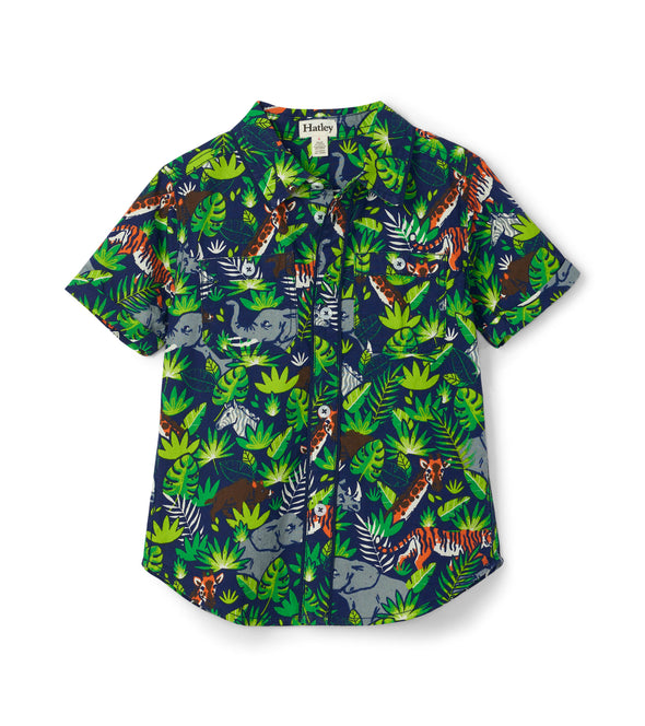 Hatley Jungle Safari Short Sleeved Button Down Shirt
