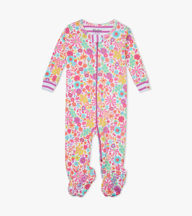 Hatley Mini Flowers Organic Cotton Footed Coverall