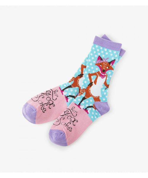 Hatley Little Blue House For Fox Sake Women's Socks