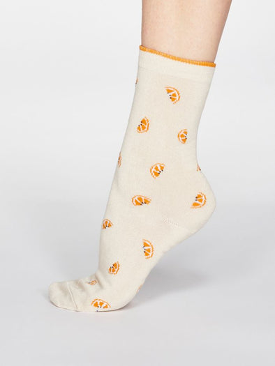 Thought Rowena Fruit Socks - Cream