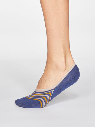 Thought Kris Mineral Blue No-Show Socks
