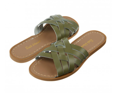 Salt-Water Sandals Retro Slide Olive - adult