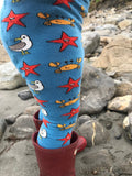 Slugs and Snails Seaside Tights
