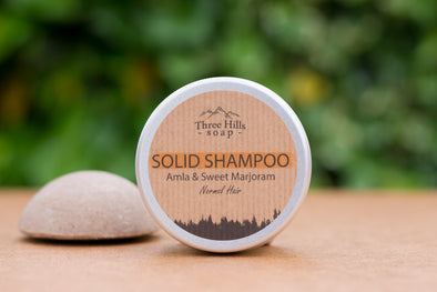 Three Hills Soap Amla and Sweet Marjoram Solid Shampoo