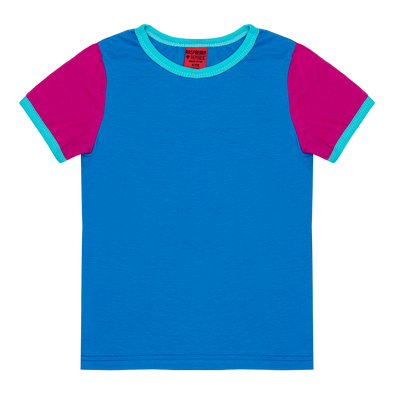 Raspberry Republic Colour Block Blue T-shirt