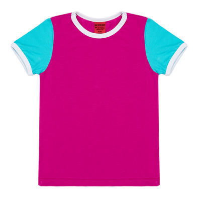 Raspberry Republic Colour Block Pink T-shirt