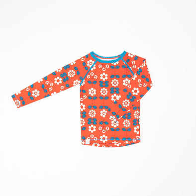 Alba Ghita Blouse - Spicy Orange Fairy Tale Flowers