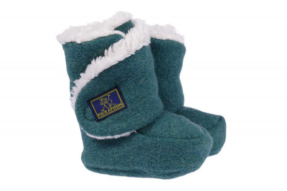 Pickapooh Trotter Sherpa Lined Booties Green