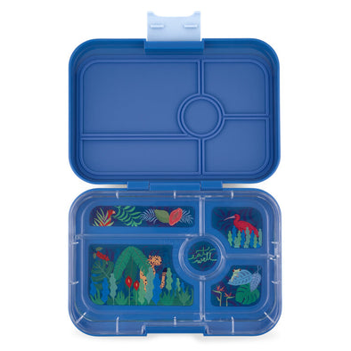 Yumbox Tapas 5 Compartment True Blue - Jungle Tray