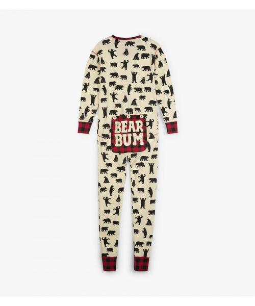 Hatley Black Bears Union Suits - Adults