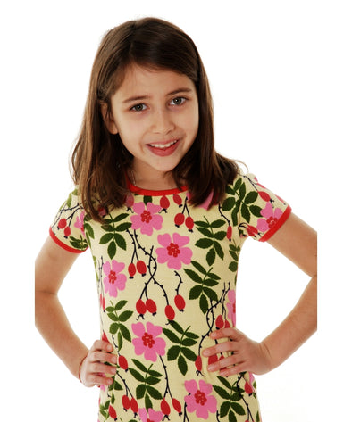DUNS Rosehip Yellow Short Sleeved Top - Adult Sizes