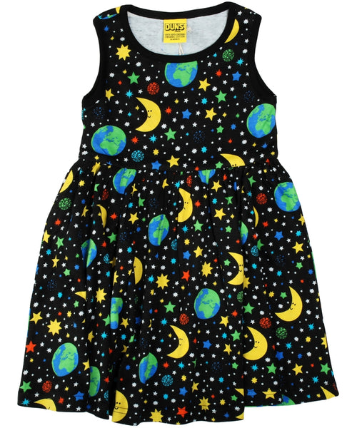 DUNS Mother Earth Black Sleeveless Dress With Gathered Skirt