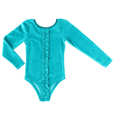 Raspberry Republic Velour Forest Dusk Long Sleeved Leotard