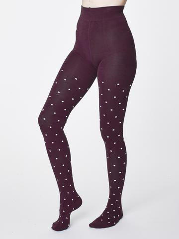 Thought Spot Bamboo Tights - Bilberry WAC4562
