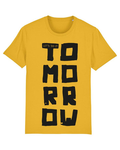 Wat? Apparel Let's Do It Tomorrow T-Shirt Spectra Yellow
