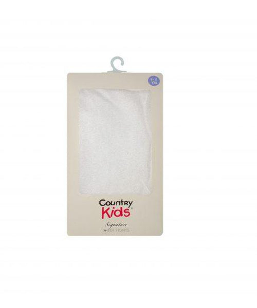 Country Kids Lycra Sheer White Tights