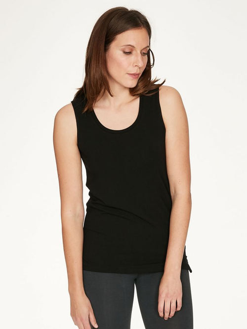 Thought Bamboo Base Layer Vest Top - Black WST4923