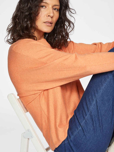 Thought Polly Organic Cotton Wool Orange Batwing Jumper