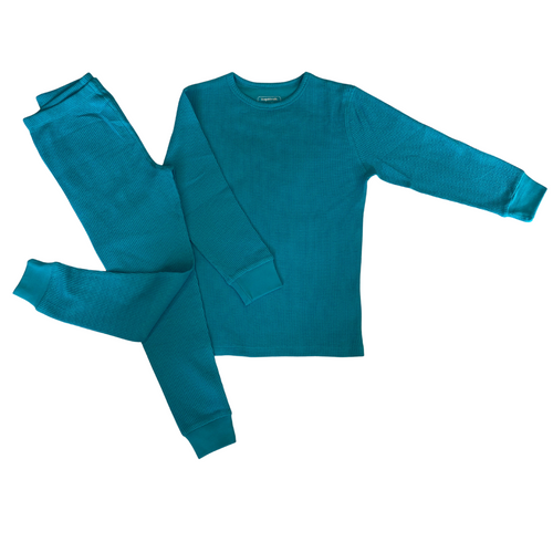 Slugs and Snails Turquoise Waffle Cotton Set