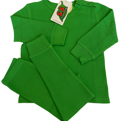 Slugs and Snails Classic Green Waffle Cotton Set