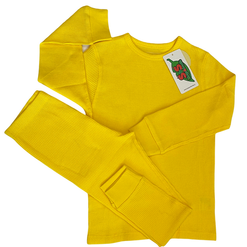 Slugs and Snails Bright Yellow Waffle Cotton Set