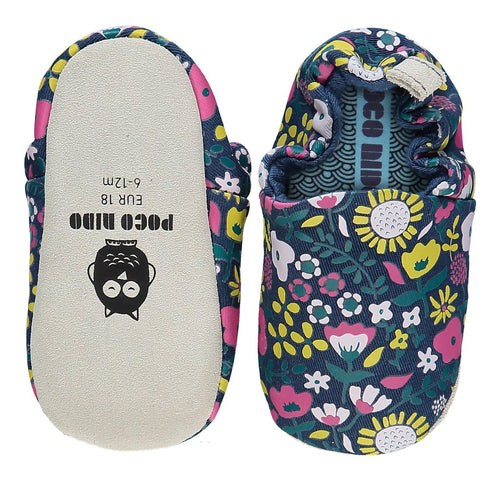 Poco Nido Wildflowers Navy Mini Shoes