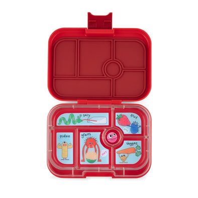 Yumbox Classic Wow Red - Funny Monsters Tray