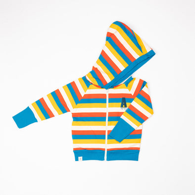 Alba All Time Zipper Hoodie - Mykonos Blue Stripes