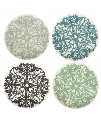 Engel Set of 4 x Bamboo Plates Winter - L