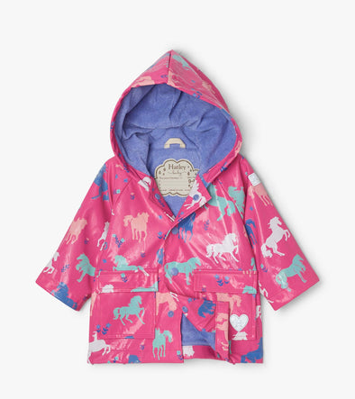 Hatley Colour Changing Painted Pasture Baby Raincoat