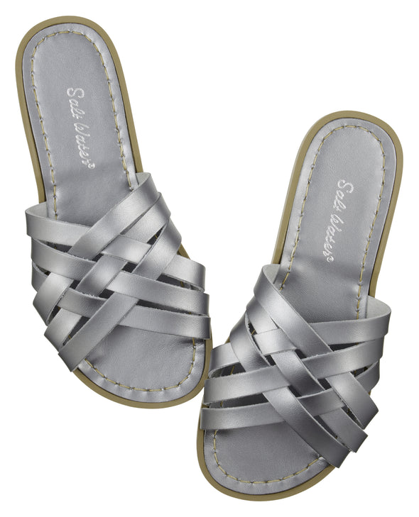 Salt-Water Sandals Retro Slide Pewter - adult