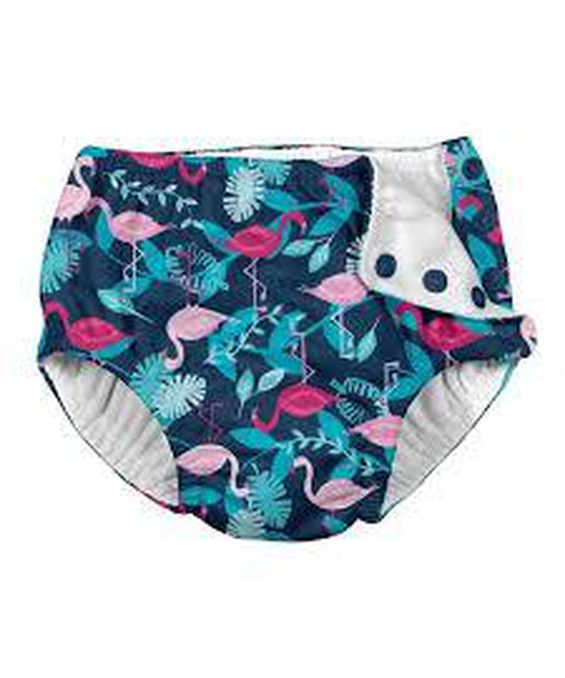 iPlay Navy Flamingos Reusable Swim Nappy