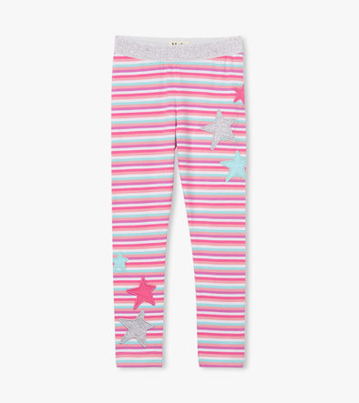Hatley Mini Rainbow Stripes Embellished Waist Leggings