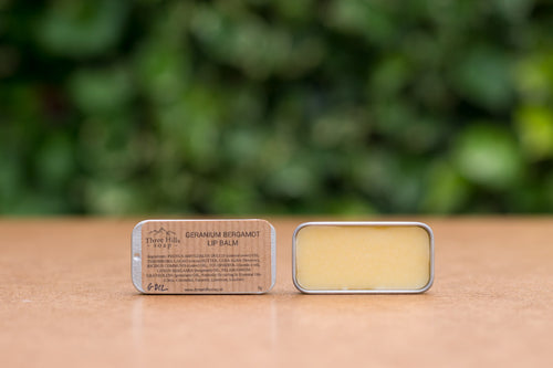 Three Hills Soap Geranium Bergamot Lip Balm