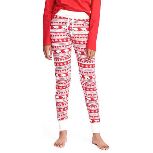 Hatley Little Blue House Women's Fair Isle Bear Sleep Leggings