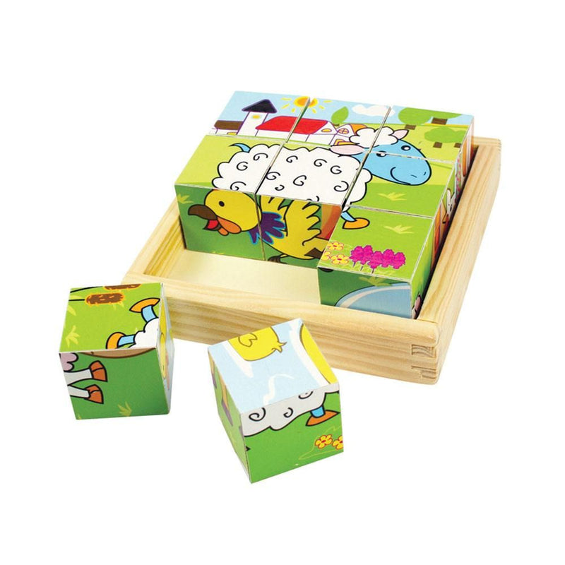 Bigjigs Animal Cube Puzzle - 9 piece