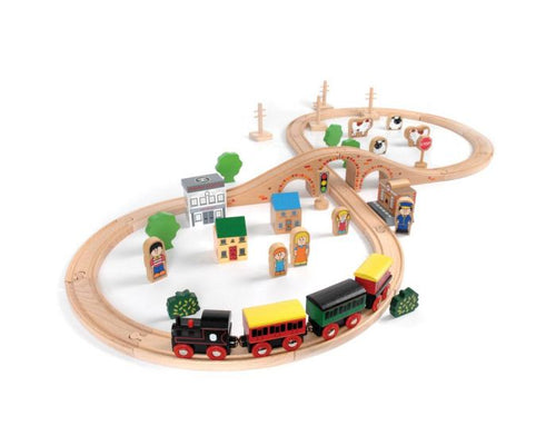 Tidlo 50 Piece Train Set